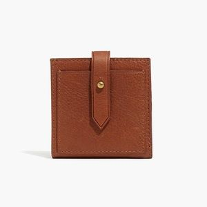 Madewell The Post Billfold Wallet English Saddle